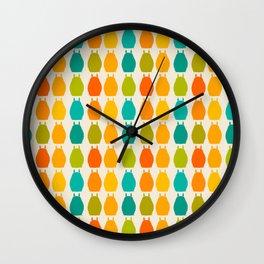 my neighbor pattern Wall Clock