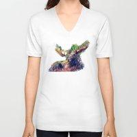 moose V-neck T-shirts featuring Moose by jbjart