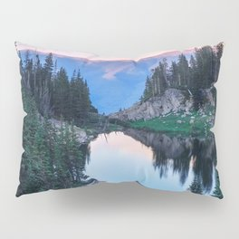 Hikers Bliss Perfect Scenic Nature View \ Mountain Lake Sunset Beautiful Backpacking Landscape Photo Pillow Sham