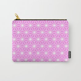 Girly Pink Geometric Flowers and Florals Isosceles Triangle Carry-All Pouch