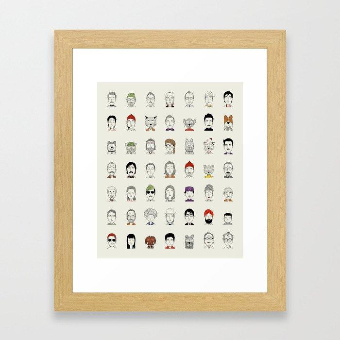 Random People Framed Art Print