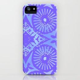 bowie: blue blue electric blue iPhone Case