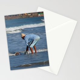 Cleaning Buckets in the Sea Arambol Stationery Cards
