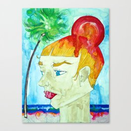 SUN BUN Canvas Print