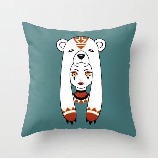 Polar Tribe Throw Pillow