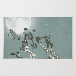 Flight of the Salary Men (color option) Rug