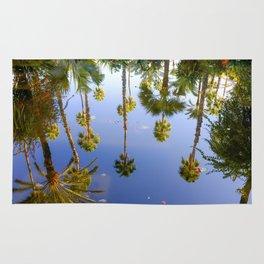 Palm Reflections Palm Tree Art Rug