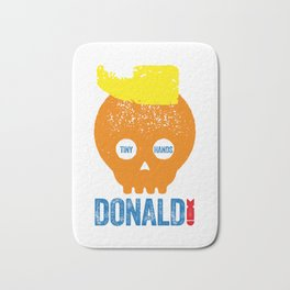 DONALD TRUMP, TYPOGRAPHIC ILLUSTRATION Bath Mat
