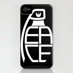 Peace Grenade Typography Print Black Edition iPhone (4, 4s) Slim Case