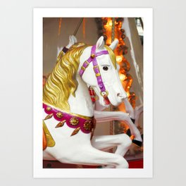 "Carousel Horse  ""merry-go-round"" Art Print"