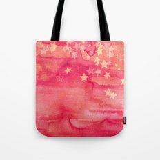 Ink & Stars in Melon & Peach Tote Bag