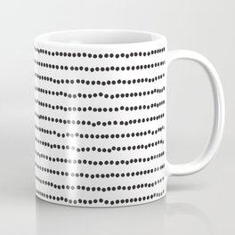 Black and White Dots, Minimalist Coffee Mug