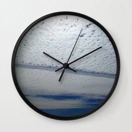 Salmon Clouds Wall Clock