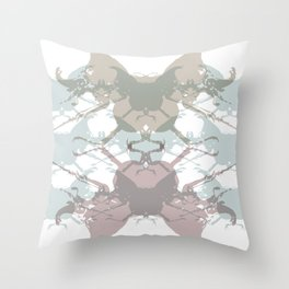 Scarabs Faded Throw Pillow