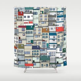 Small Part Of Town Ornament Shower Curtain
