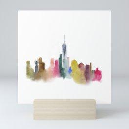 New York City skyline square Mini Art Print