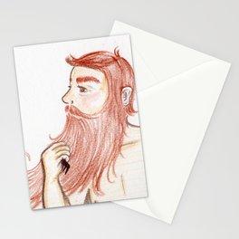 Luxurious Beard Mountain Man Stationery Cards