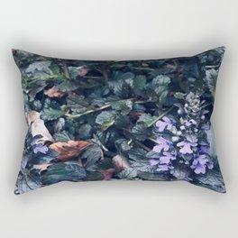 Proud Little Purple Flowers Rectangular Pillow