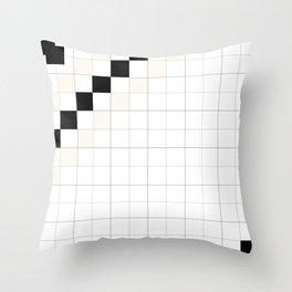 CHECKED PEACH - carreaux pêche Throw Pillow