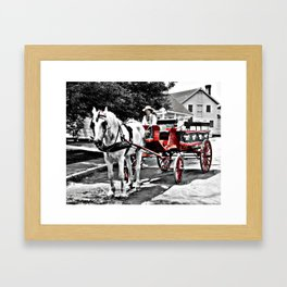 Mystic Carriage Ride Photography Framed Art Print