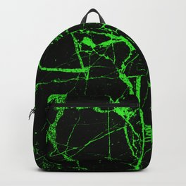 Green Marble - Green, textured, abstract pattern Backpack