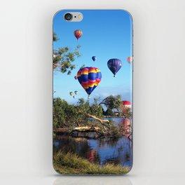 Hot air balloon scene iPhone Skin