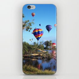 Hot air balloon scene iPhone Skin