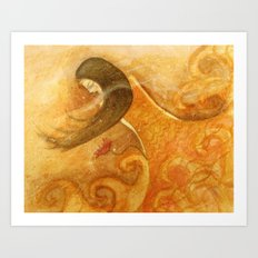 Yellow Sea Art Print