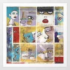 Sguardi di donne su di noi Art Print