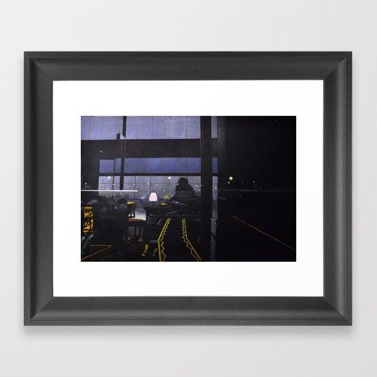 Candle-lit E Framed Art Print