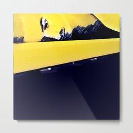 Plank ~ Yellow Metal Print