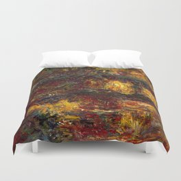1920-Claude Monet-The Japanese Footbridge, Giverny-89 x 94 Duvet Cover