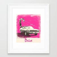 drive Framed Art Prints featuring Drive by Joel Amat Güell