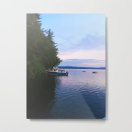 Sunrise Fishing Boat Metal Print