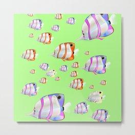 Tropical fish lime edition Metal Print