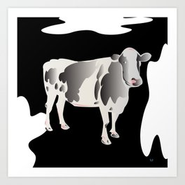 Country Cow Art Print