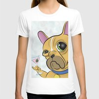frenchie T-shirts featuring Frenchie by Kandus Johnson