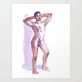 COLBY, Nude Male by Frank-Joseph Art Print
