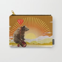 Big Bear with bicycle iPhone 4 4s 5 5s 5c, ipod, ipad, pillow case and tshirt Carry-All Pouch