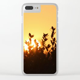 Rising Sun Clear iPhone Case