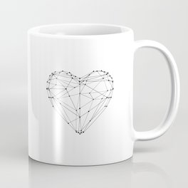 Love Heart Geometric Polygon Drawing Vector Illustration Valentines Day Gift for Girlfriend Coffee Mug