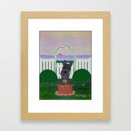 Tis the Last Rose of Summer Framed Art Print