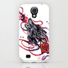 Howling Wolf and Rose Slim Case Galaxy S4