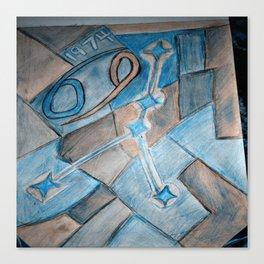 Cancer zodiac blue Canvas Print