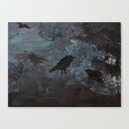 Distorted Caw Canvas Print