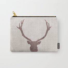 Deer stag silhouette grunge design Carry-All Pouch