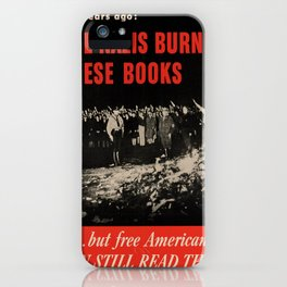 Vintage poster - Burned Books iPhone Case