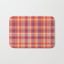 Varsity plaid purple orange and white clemson sports college football universities Bath Mat