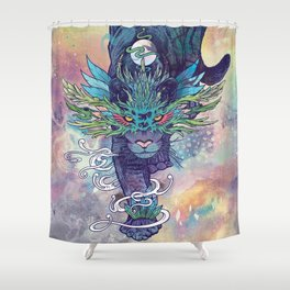 Spectral Cat Shower Curtain