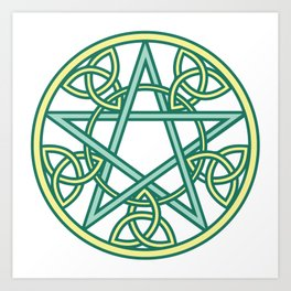Celtic Pentacle Art Print
